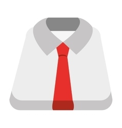 White shirt and red tie graphic vector
