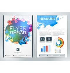 abstract business flyer or poster template with vector image