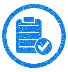 Apply form rounded icon rubber stamp vector