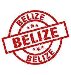 Belize red round grunge stamp vector