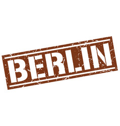 Berlin brown square stamp vector