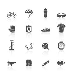 Bike icons set vector image