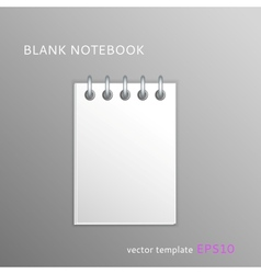 Blank paper notebook vector