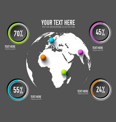 business web infographic concept vector image