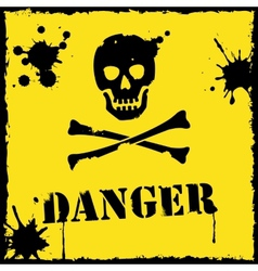danger icon yellow and black vector image vector image