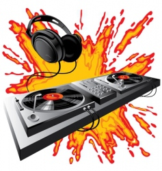 dj control panel vector image