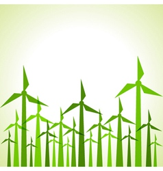 Eco windmills background vector