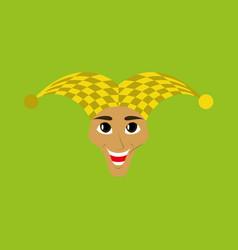 Flat icon on theme humor jester vector