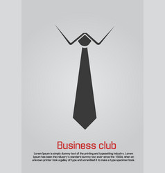 flat of necktie with white collar vector image vector image