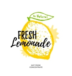 Fresh lemonade vector image vector image