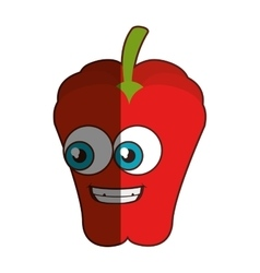 Fresh vegetable comic character isolated icon vector