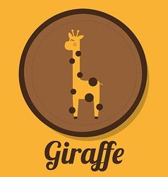 giraffe design vector image
