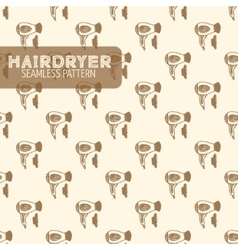 Hairdryer Vintage style vector image