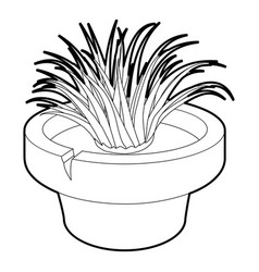 Home plant icon outline style vector