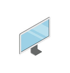 led tv device with blank screen isometric 3d icon vector image vector image