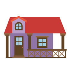 Light color silhouette of facade house with vector