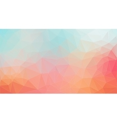 Light tial and orange shape composition background vector image vector image