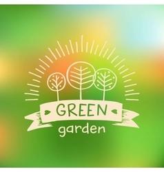 Logo green gardenlogo organic food vector