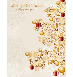 Luxury Merry Christmas tree background EPS10 file vector image vector image
