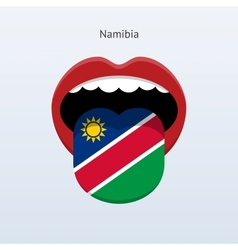 Namibia language abstract human tongue vector
