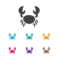 of animal symbol on crab icon vector image vector image