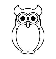 Owl bird isolated icon vector