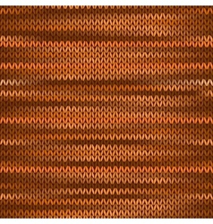 Seamless Knitted Melange Pattern Orange Brown vector image
