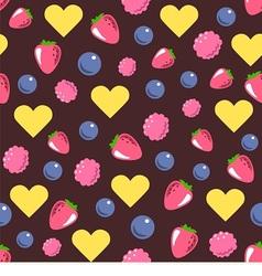 Seamless texture consists of berries vector