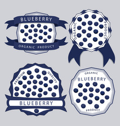 The theme blueberry vector