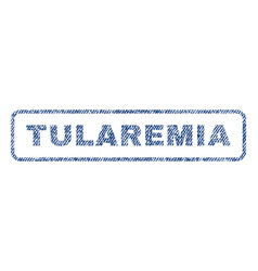 Tularemia textile stamp vector
