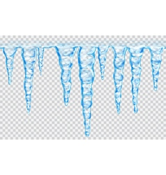 Seamless repeatable icicles vector image