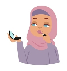 Arabic woman vector