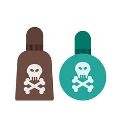Poisonous chemicals vector