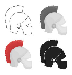 Helmet icon in cartoon style isolated on white vector