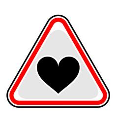 Heart sign triangular sticker vector