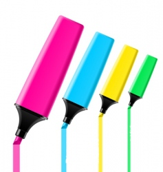 Highlighter pens vector