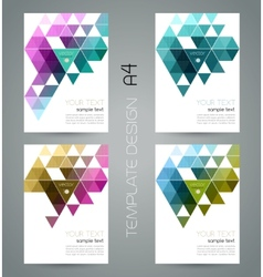 Abstract geometric banner with triangle vector