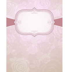 Label over color background of roses vector