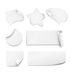 White paper stickers vector