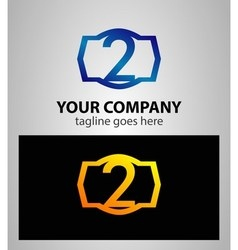 Number 2 logo logotype design vector