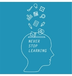 Words - never stop learning vector