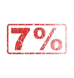 7 percent rubber stamp vector