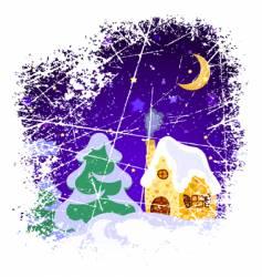 Christmas grunge vector image