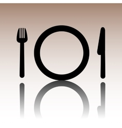 Fork plate and knife  cutlery vector