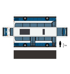 Paper model of a bus vector