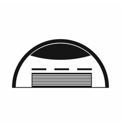 Round barn icon simple style vector
