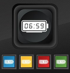alarm clock icon symbol Set of five colorful vector image vector image