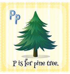 Alphabet P vector image
