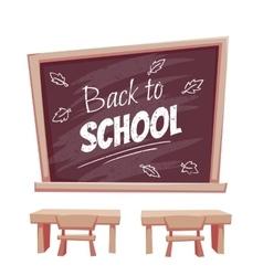 Back to school poster classroom vector