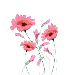 beautiful water color paintings of flowers vector image vector image